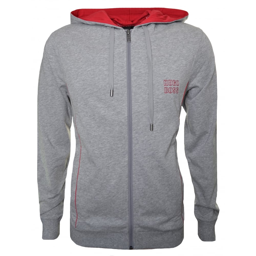 03a86c78e70 Hugo Boss Men  039 s Grey Hooded Zip Through Sweatshirt