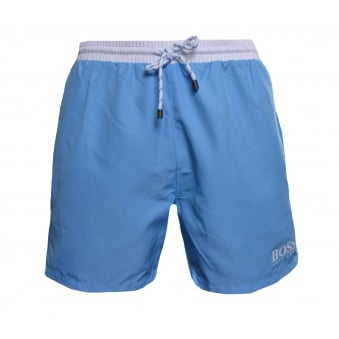 Hugo Boss Men's Light Blue Starfish Shorts