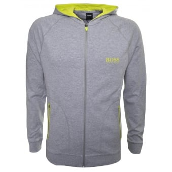 Hugo Boss Men's Medium Grey Hooded Sweatshirt