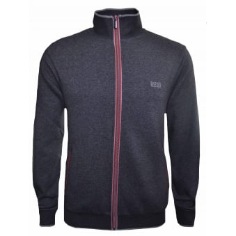 Hugo Boss Men's Medium Grey Zip Through Sweatshirt