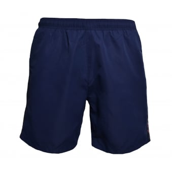 Hugo Boss Men's Navy Blue And Red Seabream Shorts