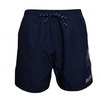 Hugo Boss Men's Navy Blue Starfish Shorts