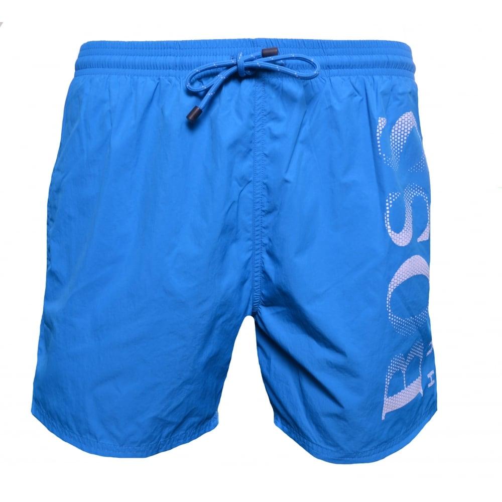 0572449534 Hugo Boss Men's Octopus Turquoise/Aqua Swim Shorts