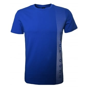 Hugo Boss Men's Slim Fit Bright Blue Printed T-Shirt
