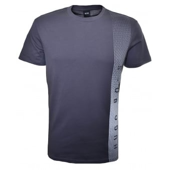Hugo Boss Men's Slim Fit Charcoal Printed T-Shirt