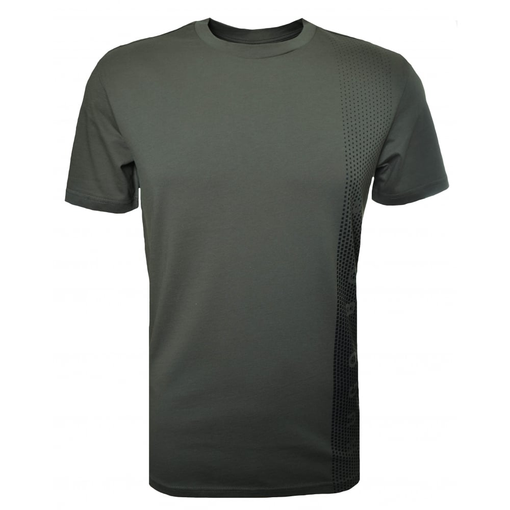 b6b1c62b3 Hugo Boss Men's Slim Fit Dark Green Printed T-Shirt