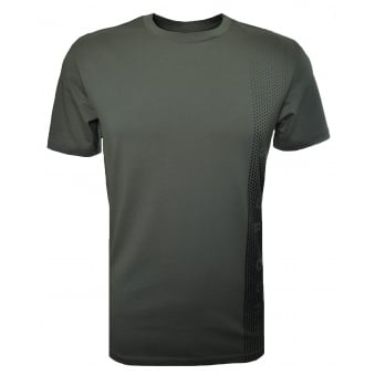 Hugo Boss Men's Slim Fit Dark Green Printed T-Shirt