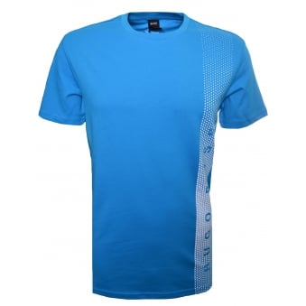 Hugo Boss Men's Slim Fit Turquoise/Aqua Printed T-Shirt