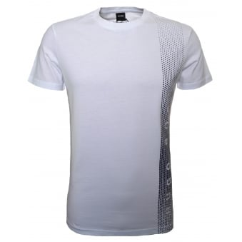 Hugo Boss Men's Slim Fit White Printed T-Shirt