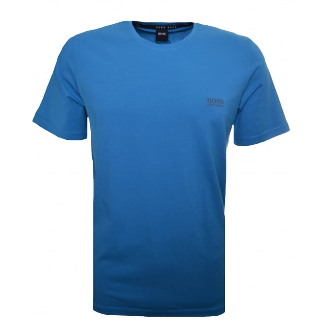 Hugo Boss Leisure Wear Hugo Boss Men's Turquoise/Aqua Plain T-Shirt