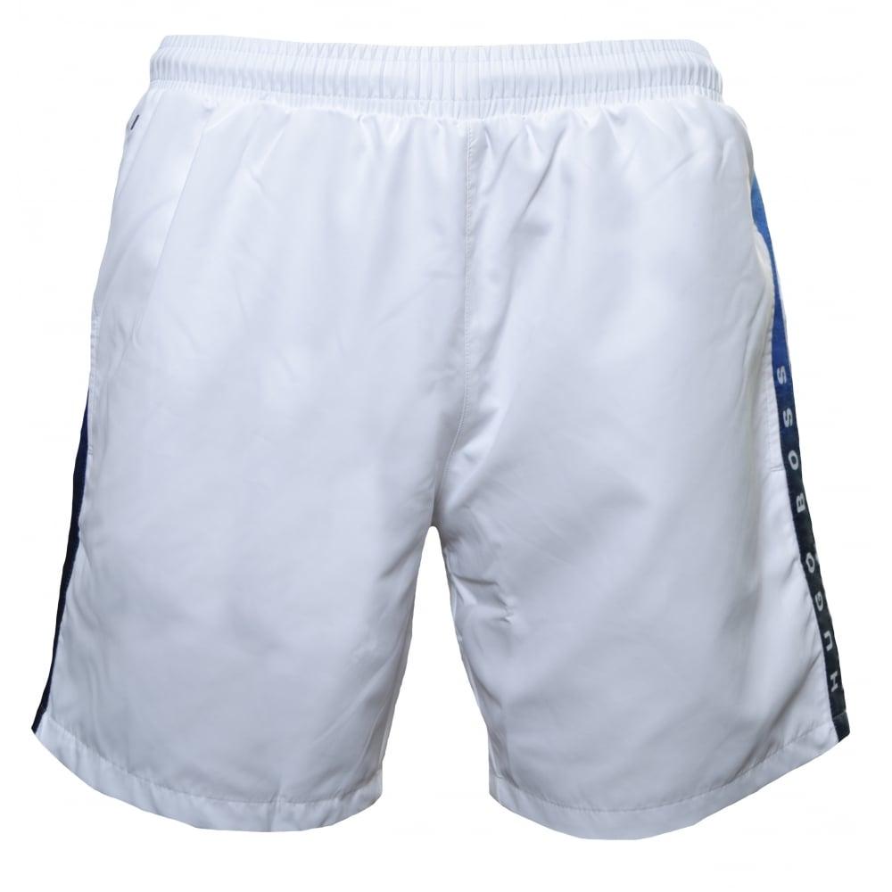 349a45dc Hugo Boss Men's White Seabream Swim Shorts
