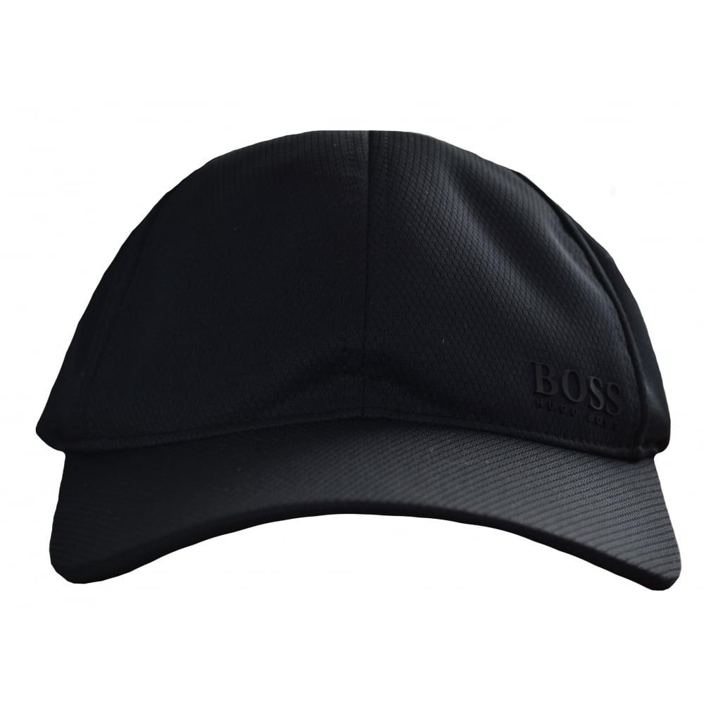 847ae6964c7 Hugo Boss Men  039 s Black Herringbone Print Cap