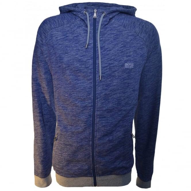 8ce92399e hugo boss men's hooded zip through jacket in medium blue