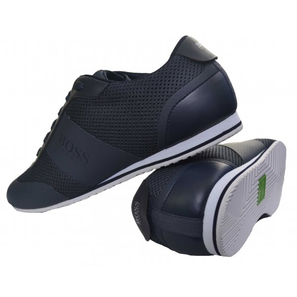 how to find quality design another chance Hugo Boss Green Men's Navy Blue Light Air Trainers