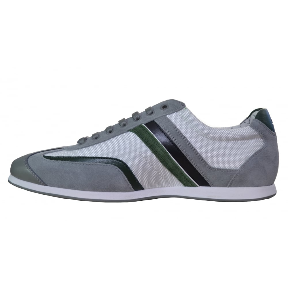 hugo boss green mens stiven white trainers