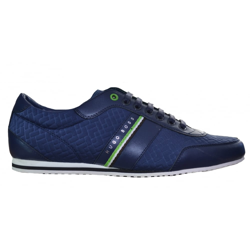newest collection order online 100% quality Hugo Boss Green Men's Victual Navy Blue Trainers