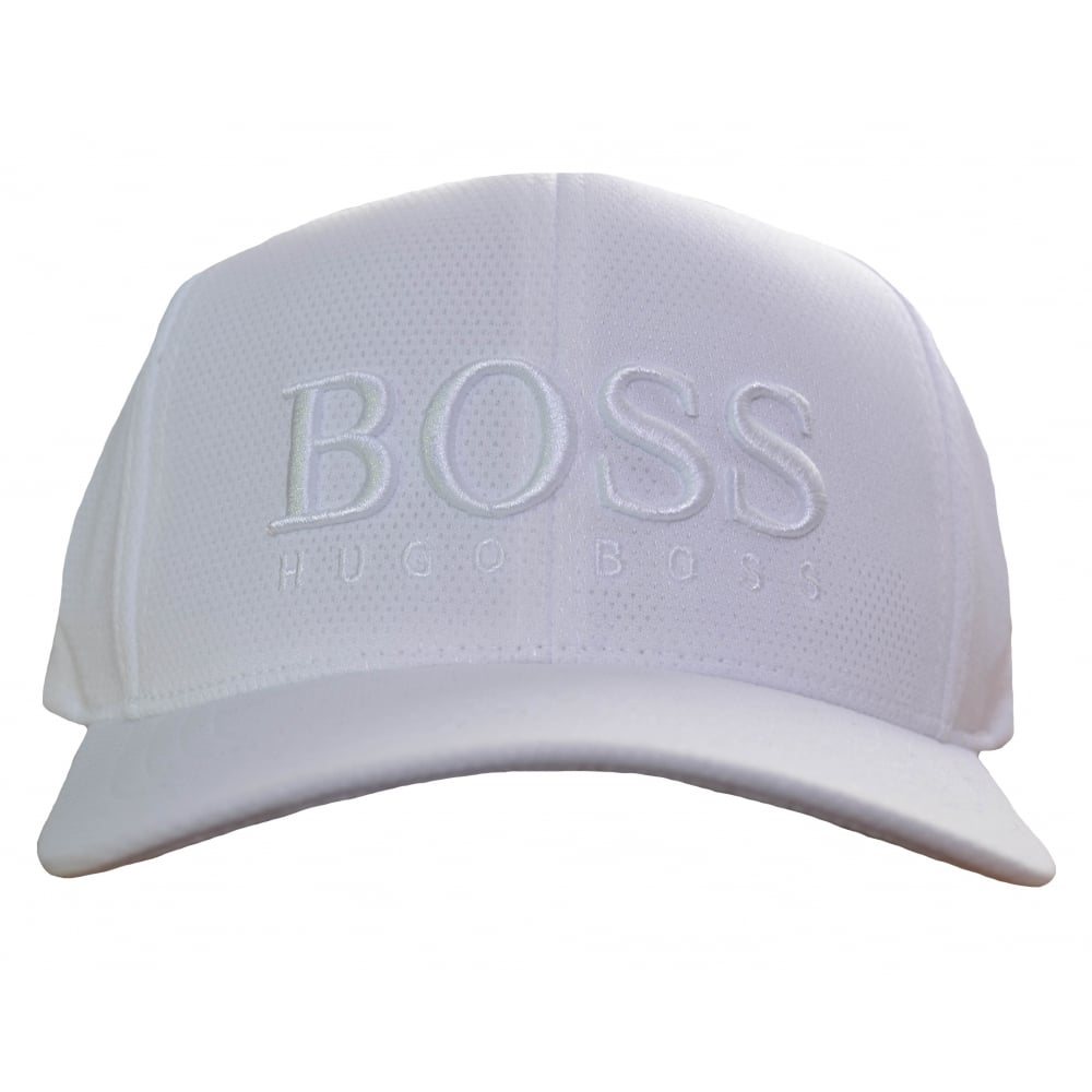 Hugo Boss Green Men  039 s White Cap-MK-1 2d9031f0053