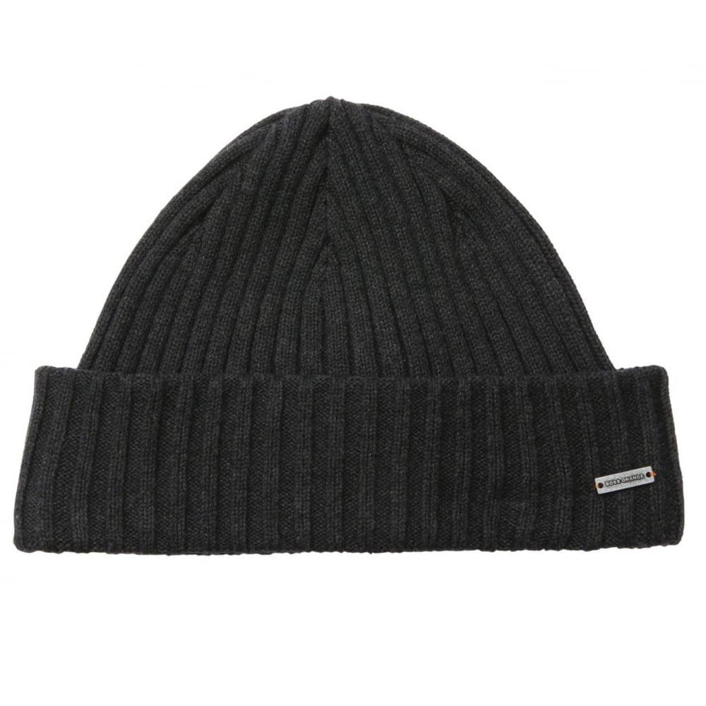 Hugo Boss Orange Men  039 s Araffon Dark Grey Hat b4f25c4d627