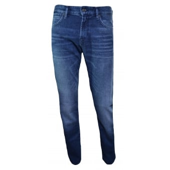 Hugo Boss Orange Men's Orange24 Barcelona Regular Fit Dark Blue Jeans