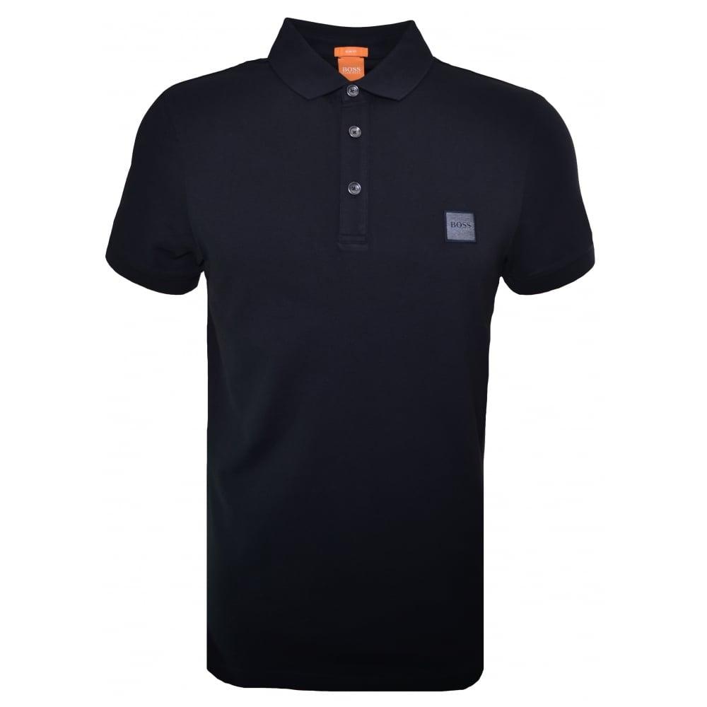 bed6824a Hugo Boss Orange Hugo Boss Men's Casual Slim Fit Black Pavlik Polo Shirt