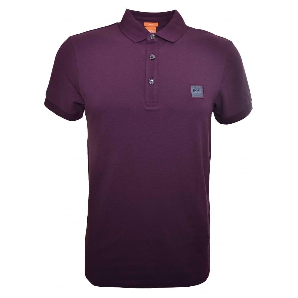 b2fce7b0c Hugo Boss Men's Casual Slim Fit Plum Pavlik Polo Shirt