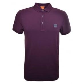 96148c0f Hugo Boss Men's Casual Slim Fit Plum Pavlik Polo Shirt