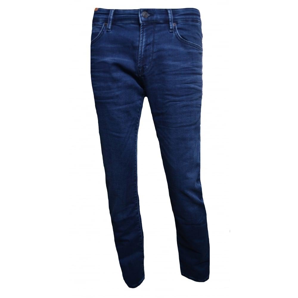 d9192d95051 Hugo Boss Men  039 s Orange24 Barcelona Regular Fit Blue Jeans