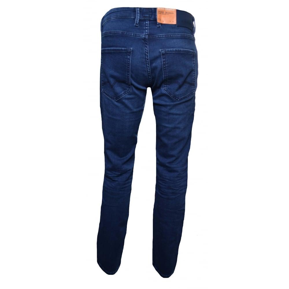 7b8fdcc3614da4 Hugo Boss Men's Orange24 Barcelona Regular Fit Blue Jeans