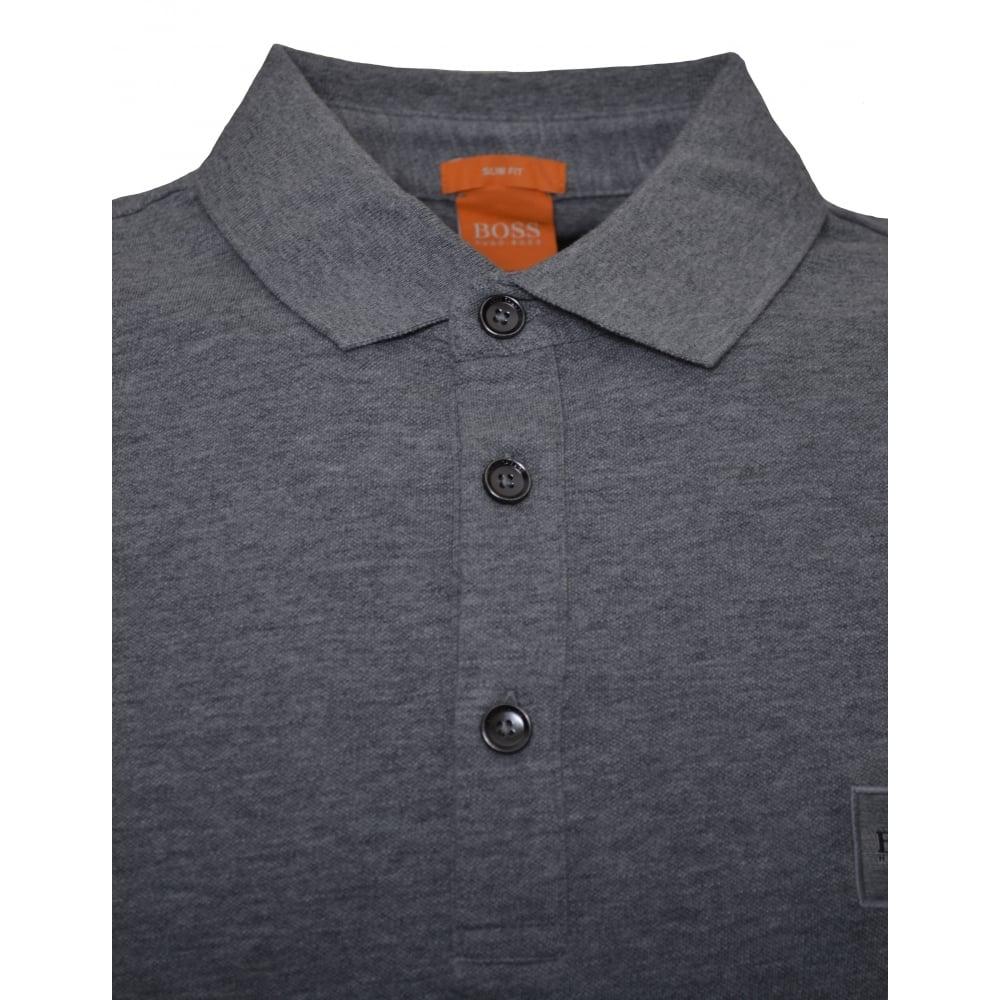 287ed3ca0dd4 Hugo Boss Men  039 s Slim Fit Grey Passenger Polo Shirt