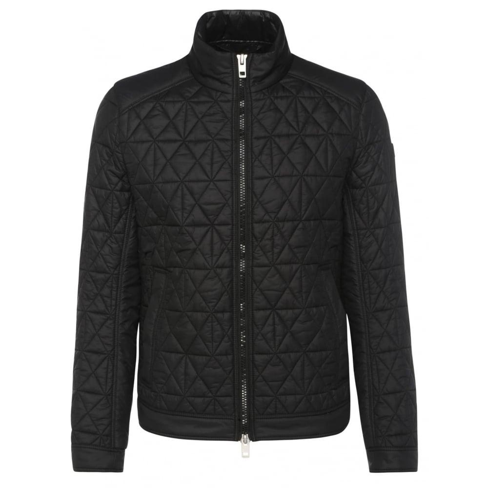 295ae738dddfc Hugo Boss Orange Men  039 s Black Obray Slim Fit Padded Jacket