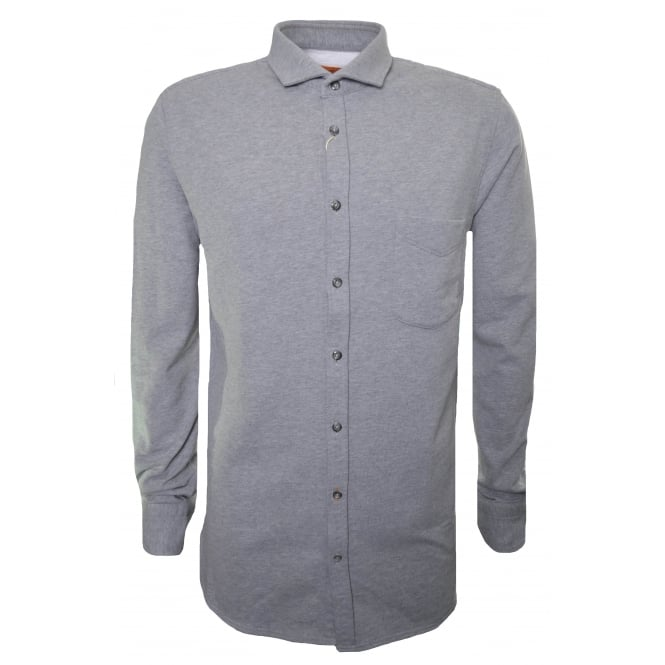 Hugo Boss Orange Men's Cattitude Grey Long Sleeved Shirt