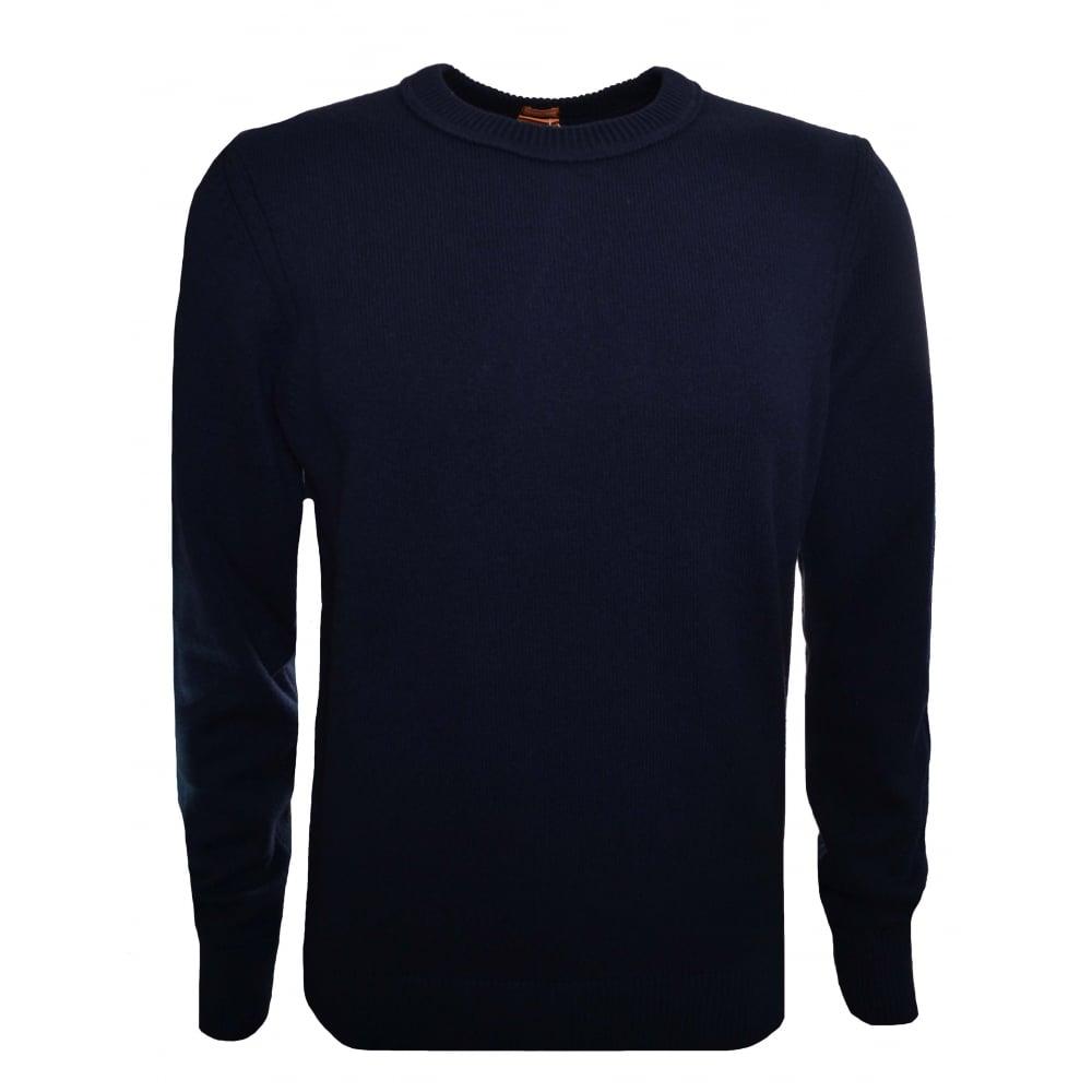 1f3f9e27055e Hugo Boss Orange Men  039 s Dark Blue Amidro Knitted Jumper