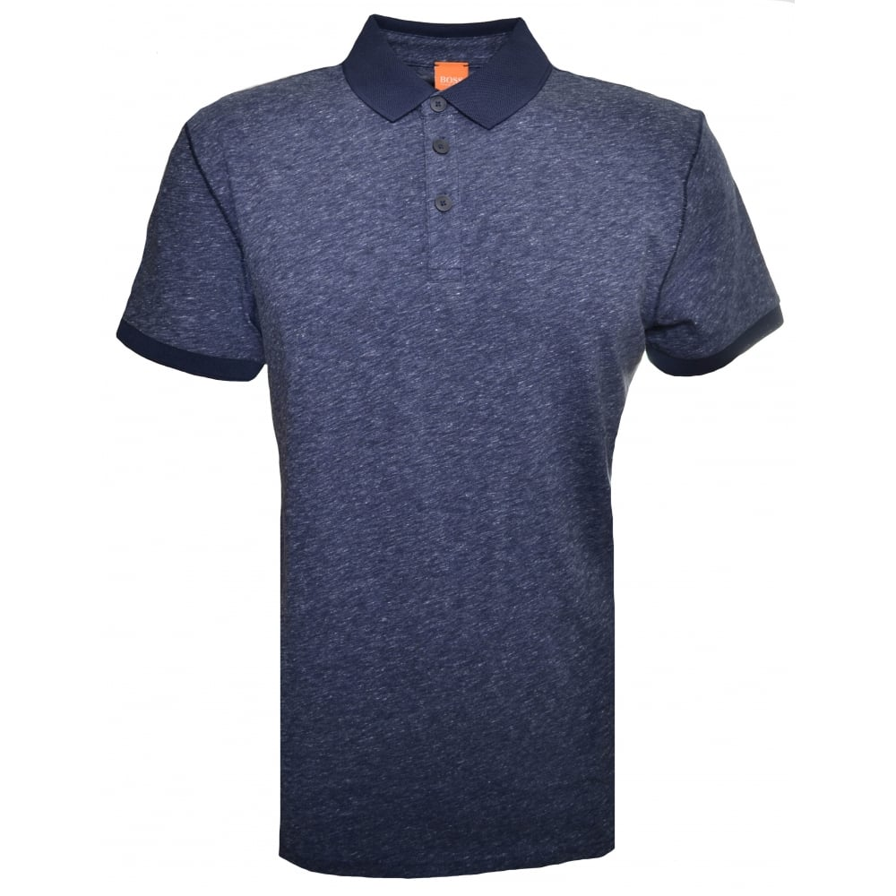 a73d2734d Hugo Boss Orange Men's Dark Blue Performer Polo Shirt