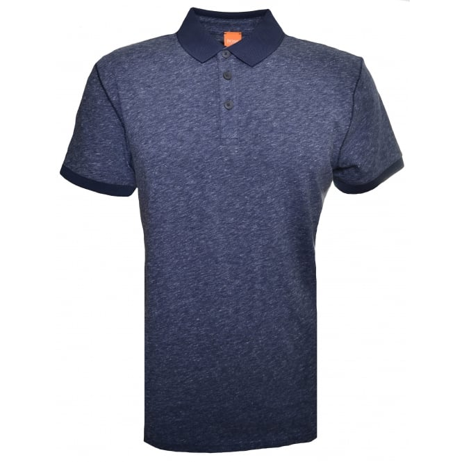 Hugo Boss Orange Men's Dark Blue Performer Polo Shirt