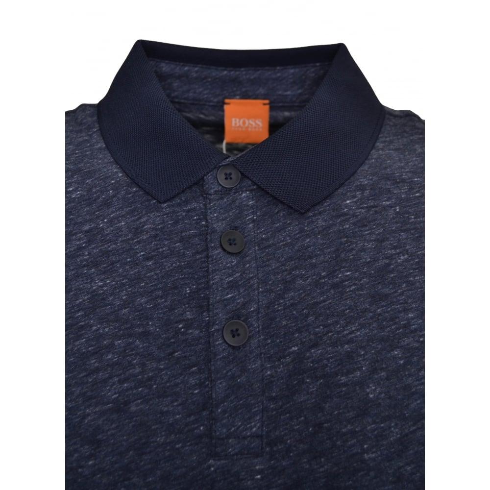 f74e2a39 Hugo Boss Orange Men's Dark Blue Performer Polo Shirt