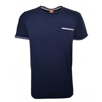 Hugo Boss Orange Men's Dark Blue Tile T-Shirt