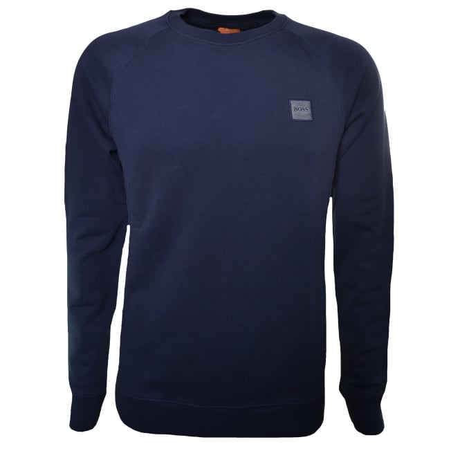 Hugo Boss Orange Men's Dark Blue Wheel UK Sweatshirt