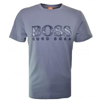 Hugo Boss Orange Men's Grey Turbulence 2 T-Shirt