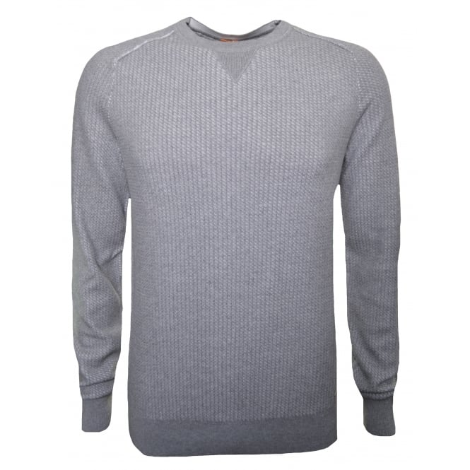 Hugo Boss Orange Men's Kawanan Grey Jumper