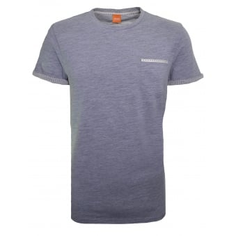 Hugo Boss Orange Men's Light/Pastel Grey Tile T-Shirt