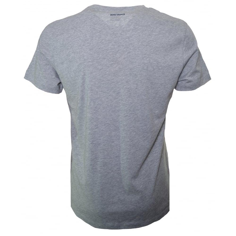893ca586c Hugo Boss Orange Men's Medium Grey Theon 1 T-Shirt