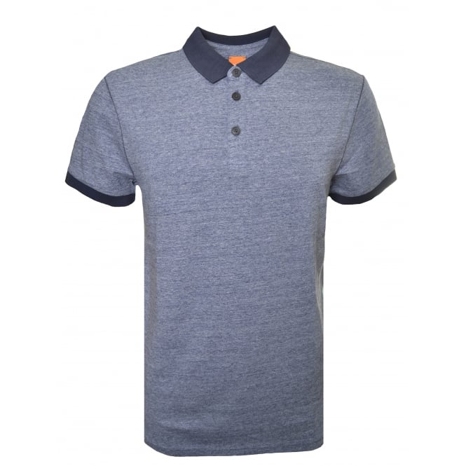 Hugo Boss Orange Men's Navy Blue Performer Polo Shirt