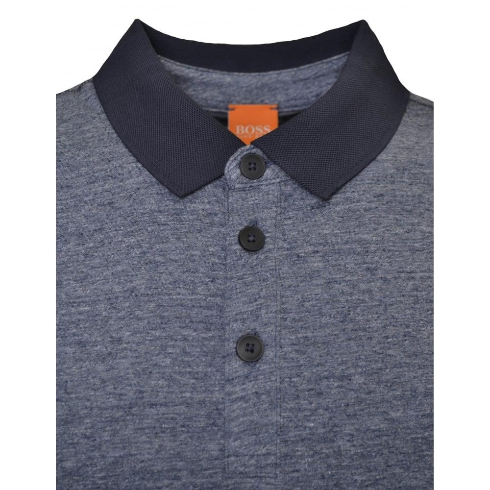 28e8868f Hugo Boss Orange Men's Navy Blue Performer Polo Shirt