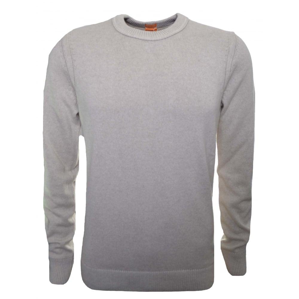 b2105e1c2e82 Hugo Boss Orange Men  039 s Open White Amidro Knitted Jumper