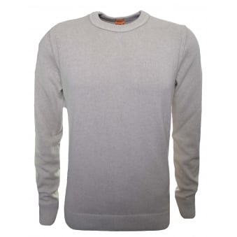 Hugo Boss Orange Men's Open White Amidro Knitted Jumper