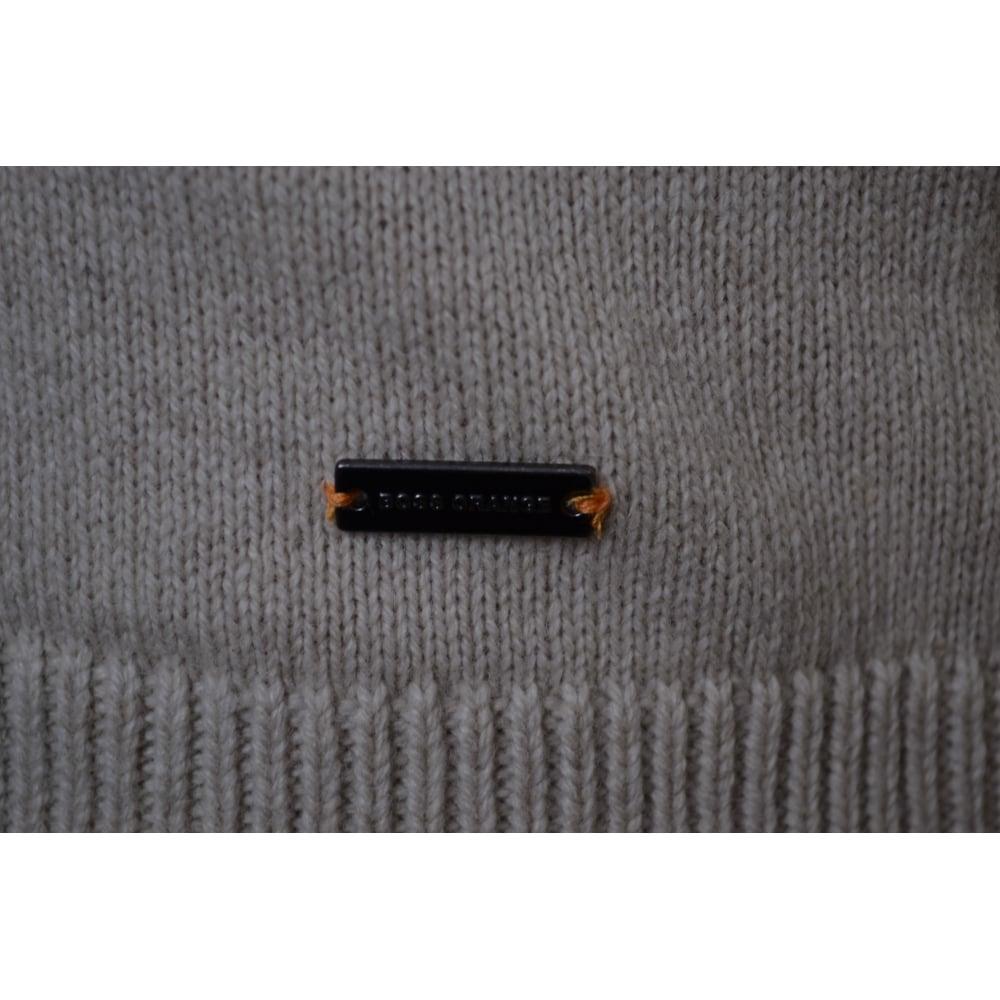 Hugo Boss Orange Men  039 s Open White Amidro Knitted Jumper 7f40b7c00