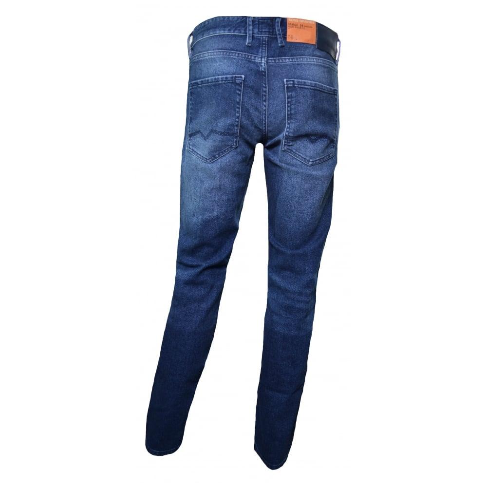 a8084932fed Hugo Boss Orange Men  039 s Orange24 Barcelona Regular Fit Medium Blue Jeans