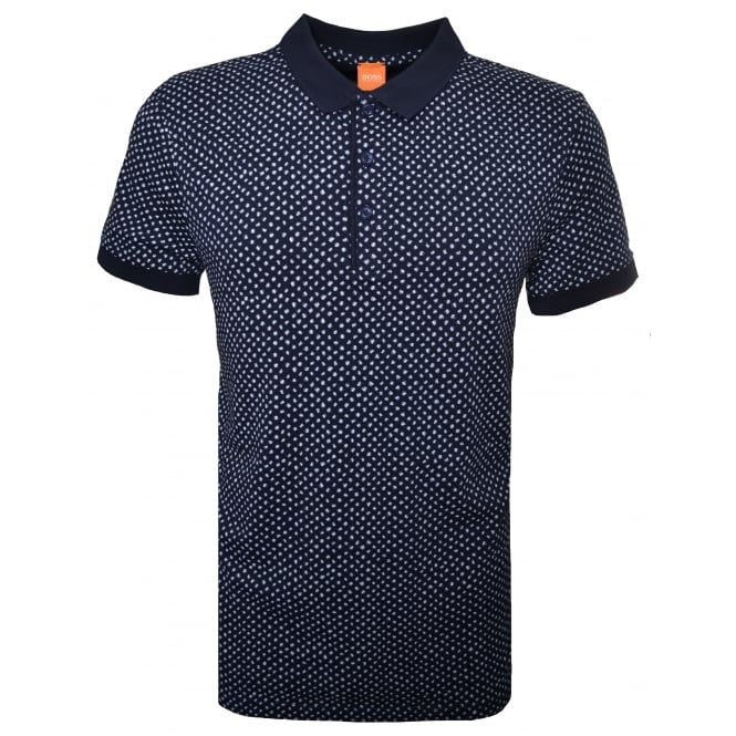Hugo Boss Orange Men's Palex Navy Blue Polo Shirt
