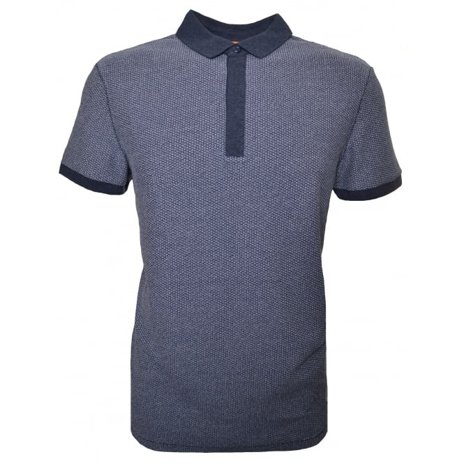 Hugo Boss Orange Men's Persys Navy Blue Polo Shirt