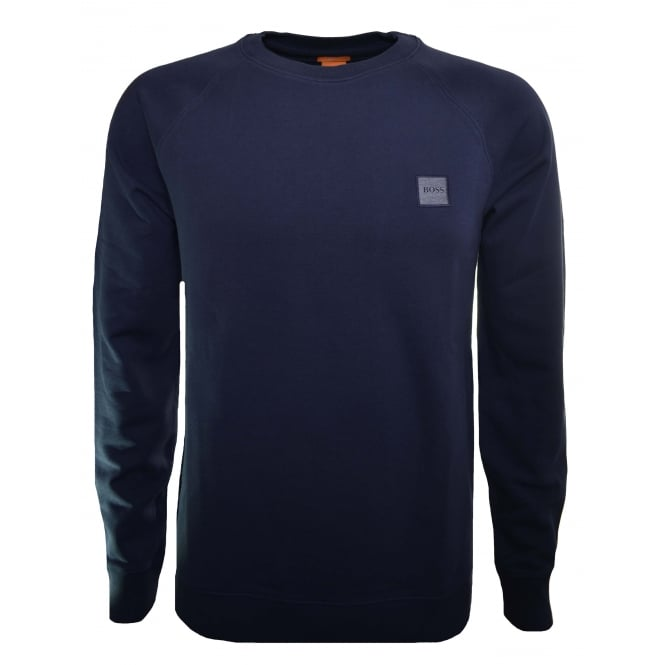 Hugo Boss Orange Men's Slim Fit Dark Blue Wheel UK Sweatshirt